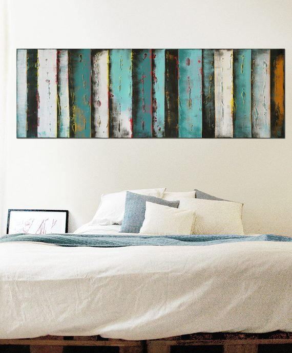 long blue painting
